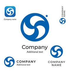 swirl creative logo modern stylish identity brand vector image vector image