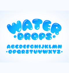 water grpos alphabet vector image