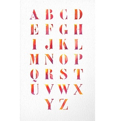Watercolor alphabet font set vector image vector image