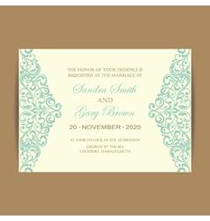 wedding card vintage elem vector image vector image