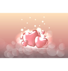 Background with Heart Shaped BalloonsTemplate of vector image vector image