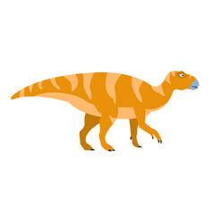 birdlike beak orange dinosaur of jurassic period vector image vector image