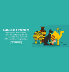 culture and traditions egypt banner horizontal vector image vector image