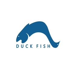 duck and fish concept design template for vector image vector image