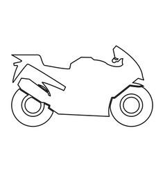 motorcycle black color path icon vector image