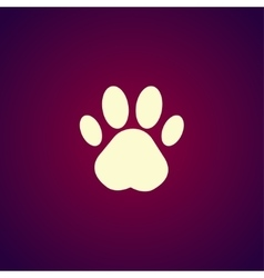Paw Print Flat design style vector image vector image