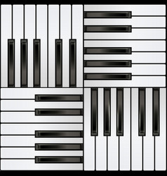 Piano keyboard square seamless pattern vector