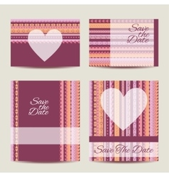 Save the date card set vector image