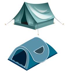 Tents camping summer rest tents vector