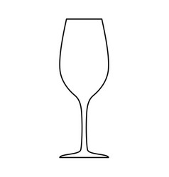 wineglass silhouette isolated on white vector image