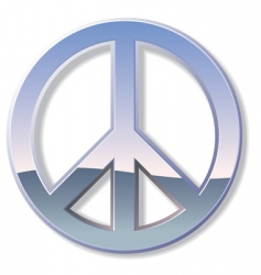 chrome peace sign vector image vector image