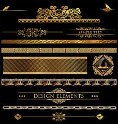 Design golden elements vector image vector image