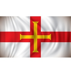 Flag of Guernsey vector image vector image