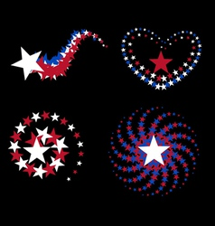 Stars in formation vector image