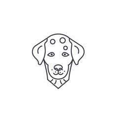 dalmatian dog line icon sign vector image