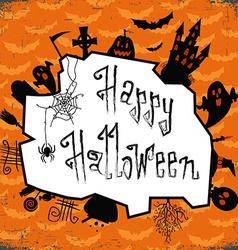 Happy halloween card Design template with pumpkin vector image