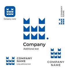 technological contstruction logo modern m letter vector image