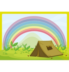 A tent and a rainbow vector
