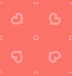 abstract seamless background with hearts on vector image