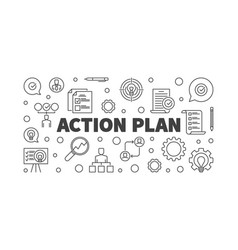 Action plan outline or banner vector