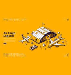 air cargo logistics airfreight global shipping vector image