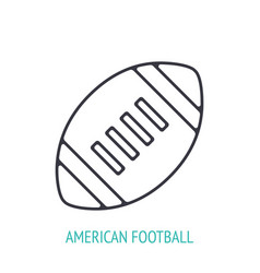 american football or rugby ball outline icon vector image