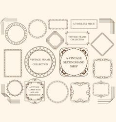 assorted vintage frames vector image