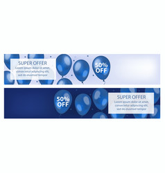 Banners set with a special offer sales discounts vector