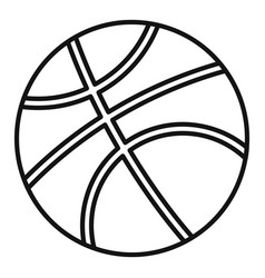 basketball ball icon outline style vector image