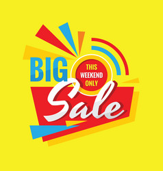 big sale - concept banner design discount vector image