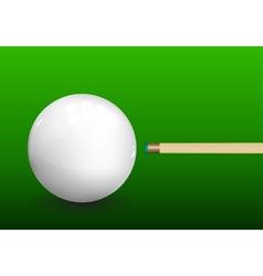 Billiard Cue Aiming on Ball vector