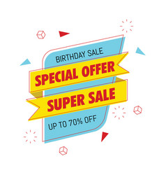 birthday sale special banner vector image