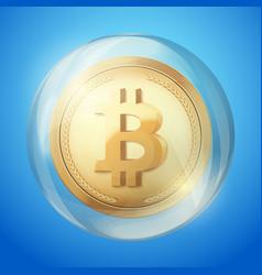 Bitcoin sign in bubble vector