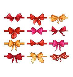 bows for hair flat set vector image