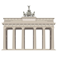 Brandenburg gate vector