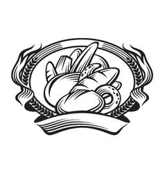 bread banner vector image