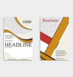 brochure design corporate business template for vector image