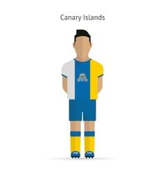 Canary Islands football player Soccer uniform vector