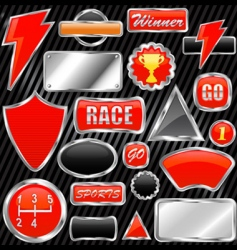 Chrome graphic elements vector