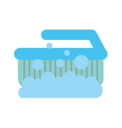 cleaning brush isolated icon vector image