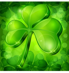 clover green background vector image