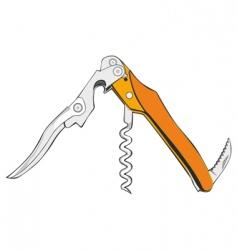 Cork screw vector