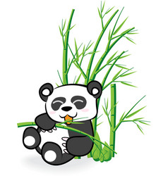 cute Panda Bear in Bamboo Forrest 02 vector image