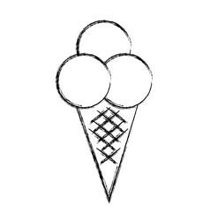 delicious ice cream isolated icon vector image