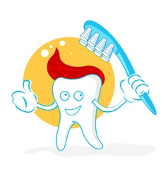 dental cartoon vector image
