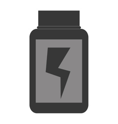Dietary supplement container vector