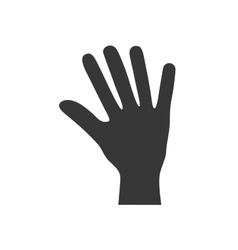 Fingers human hand gesture icon graphic vector