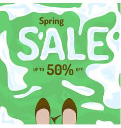 flat spring sale banner poster flyer vector image vector image