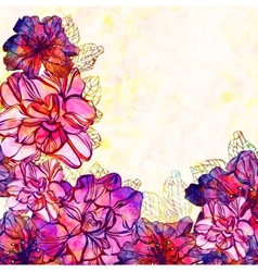 floral background with flowers eps 10 vector image