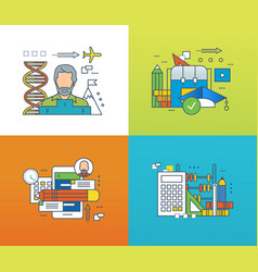 forms of education success in teaching learning vector image